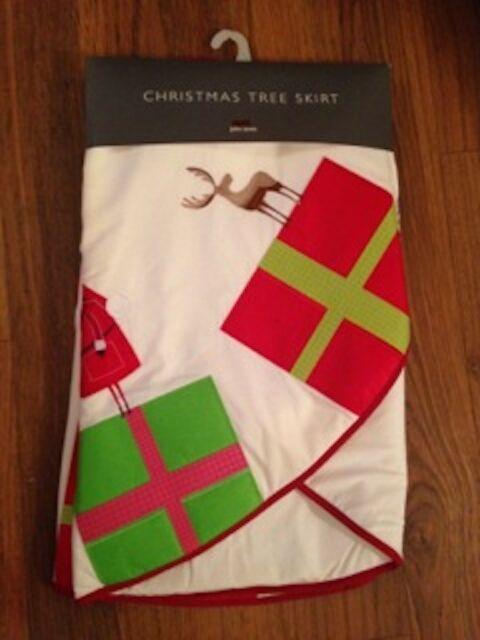 John Lewis Christmas Tree Skirt.John Lewis Christmas Xmas Tree Skirt Quilted Padded Santa Gifts 127cm