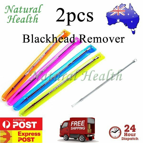 2pcs Blackhead Remover Comedone Acne Pimple Pore Blemish Extractor Needle Tool