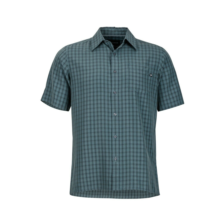 Marmot Eldridge Shirt Short Sleeve, Funktionshemd für Herren, dark zinc