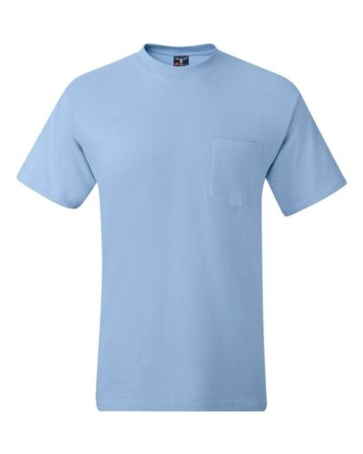 Hanes Beefy-T TAGLESS POCKET T-Shirt NEW 6.1 oz 100/% Cotton 5190 Mens S-3XL Tee