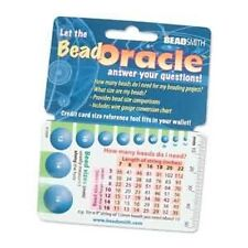 Bead Oracle Reference Card Tool Very Handy! 41380 Bead Size, Ruler, Conversions