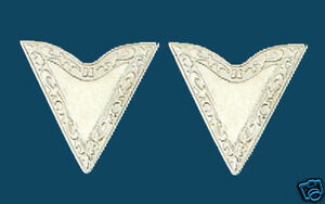 NEW-Western-Collar-Tips-Silver-Screw-On-1-1-4-along-edge