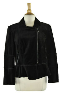 White House Black Market Women Coats & Jackets Jackets 16 Black Cotton