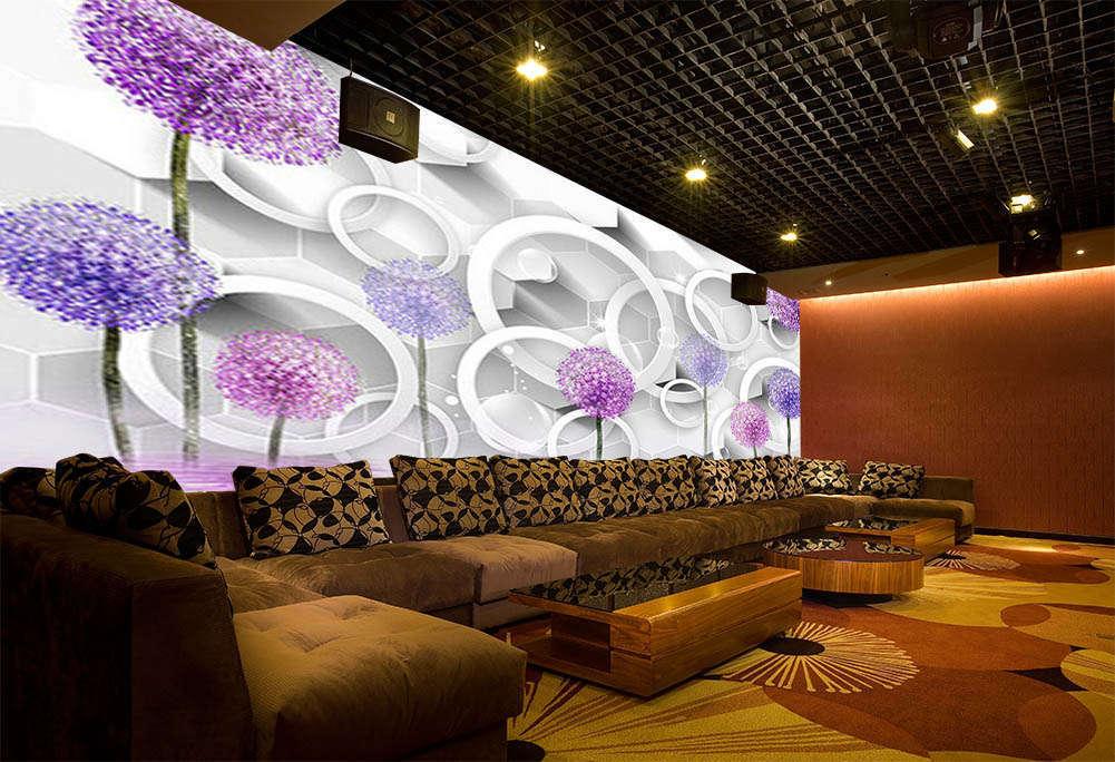 lila Ornaments 3D Full Wall Mural Photo Wallpaper Printing Home Kids Decor