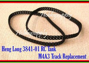 HENG-LONG-RC-3841-01-1-30-U-S-M4A3-SHERMAN-RC-Tank-Plastic-Track-part-x-1-PAIRS