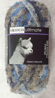 Alpaca Ultimate 10 Ply Boucle Yarn Black 83/% Alpaca 17/% Synthetic Binder
