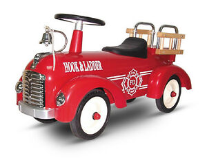 NEW-RETRO-CLASSIC-RIDE-ON-CAR-METAL-STEEL-RIDE-ON-TOY-VINTAGE-FIRE-ENGINE-TRUCK