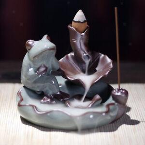 Buddhism-Incense-Burner-Ceramic-Stick-Cones-Holder-Backflow-Burner-Frog