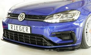 VW-Golf-MK7-5-R-R-Line-Front-Spoiler-Spitter-RIEGER-Gloss-Black-2017-onwards