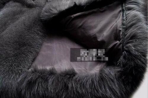 Men/'s Parka Faux Fox Fur Coat mink fur Outwear Business Jacket Thick Winter warm