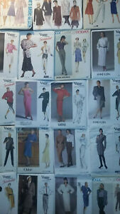 VOGUE-Vintage-Patterns-Misses-039-Blouses-Tops-Shirts-Pants-Jackets-Dress-U-Pick