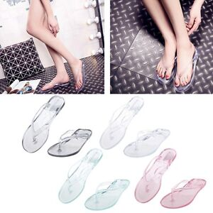 Image Is Loading Women Flat Flip Flops Anti Slip Bathroom Slippers