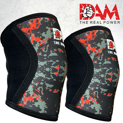 DAM Knee Sleeve Powerlifting Weightlifting Patella Support Brace Protector Camo