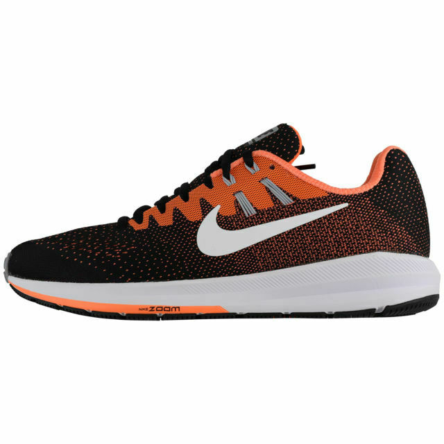 Nike Men's Air Zoom Structure 20 - Black White-Total orange (849576-002)