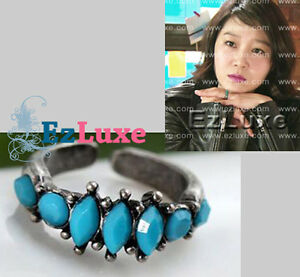 Korean-Drama-THE-GREATEST-LOVE-Turquoise-Blue-Ring-KONG-HYO-JIN-Aejung-BEST-LOVE
