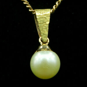 O211 - Pendentif en OR 18K et Perle de Culture, blanche