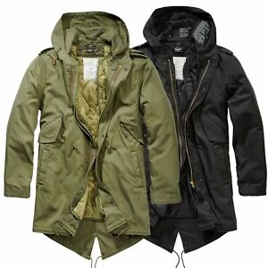 Brandit US M51 Parka Winterjacke Fishtail Jacke Gefüttert Armee S-5XL