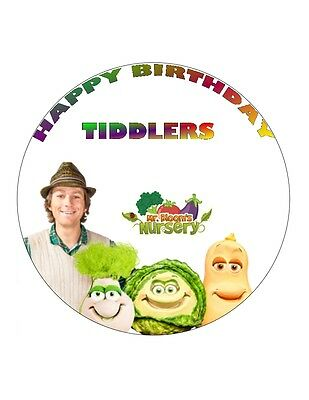 "Nauwkeurig 7.5"" 19cm Mr Blooms Nursery Personalised Wafer/fondant Paper Cake Topper"