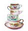 coloré-TEA-Tasses-SOUCOUPES VOLANTES Decal Handmade Transparent Autocollant Mur meubles