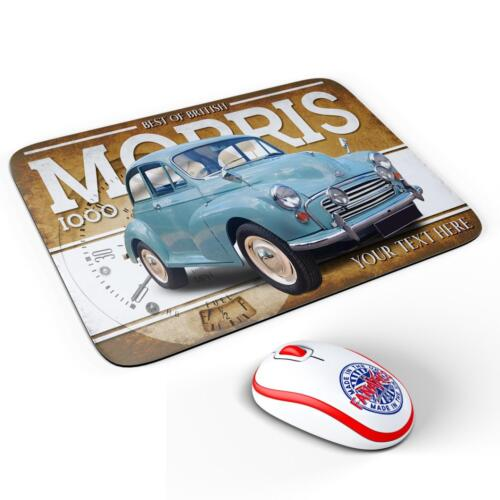 Personalised Morris Minor 1000 Classic Car Mouse Mat Pad Computer Dad Gift CL39
