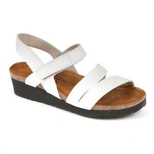 e689111e7628 Naot Kayla White Leather Strappy Sandal Women s sizes 5-11 36-42 NEW ...