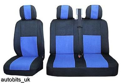 2+1 Rojo Solo /& Doble Comodidad asiento de tela /& Apoyabrazos Cubiertas Para Renault Trafic