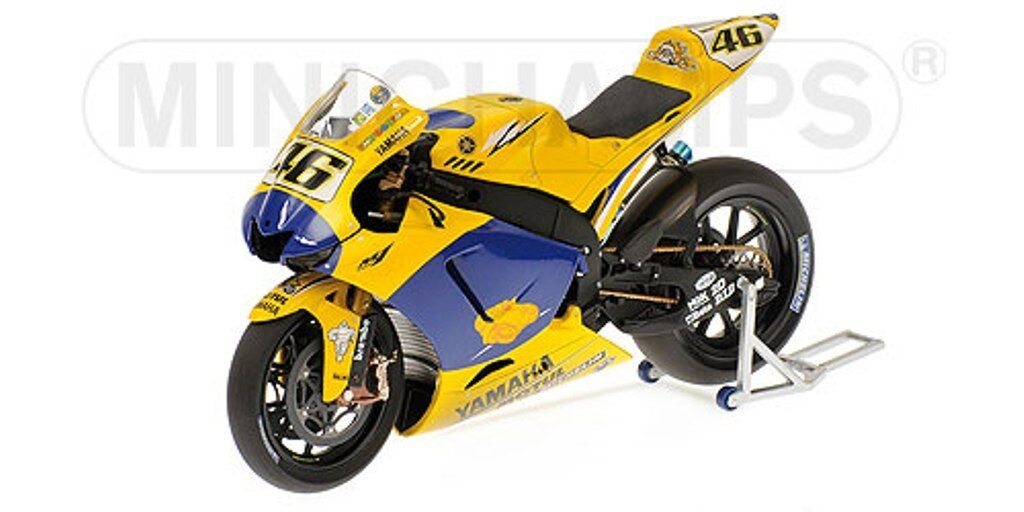 MINICHAMPS 063096 YAMAHA YZR-M1 bike Rossi DIRTY VERSION Sachsenring 2006 1 12th