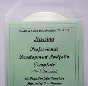 professional development portfolio template health social care and