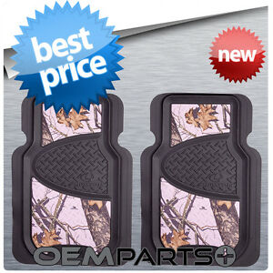 Details about 2x pink mossy oak front floor mats camouflage camo truck