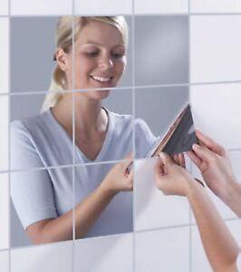 Funlife-Reflektierenden-Spiegel-Wand-Sticker-Dekor-Spiegel-Fliesen-Aufkleber