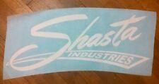"""Shasta Industries Vintage Travel Trailer decals white 15"""" die cut set of 2"""