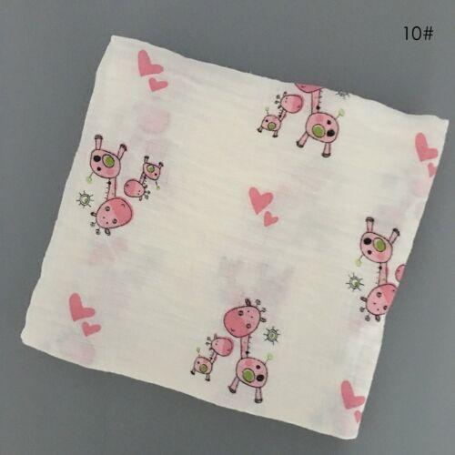 Newborn Baby Soft Muslin Blanket Bedding Blanket Wrap Swaddle Blanket Bath Towel