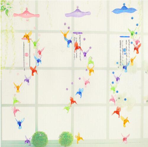 Cute Hummingbird Dolphin Wind Chime Bells Home Window Hanging Ornament Decor New