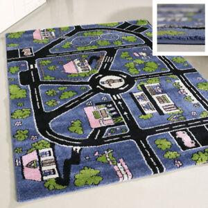 Kinderteppich-Spielteppich-Strassenteppich-Junge-120x170-cm-Auto-Autoteppich-NEU
