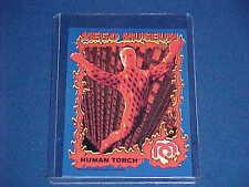 MARVEL COMICS THE HUMAN TORCH FANTASTIC FOUR 4 MEGO MUSEUM PROMO CARD