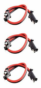 3 pack 12 quot 10 2 pin disconnect imc audio polarized wire harness