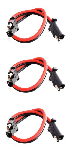 """3 pack 12/"""" 10 Gauge 2 Pin Quick Disconnect IMC AUDIO Polarized Wire Harness"""