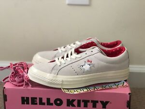 Details about Converse one star Hello Kitty Grey Gray Suede 2018 Womens sizes 162937C