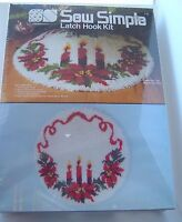 Vtg Sew Simple Candle Trio 33 Latch Hook Rug Christmas Tree Skirt Sealed