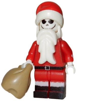 **NEW** LEGO Custom Printed Christmas Minifigure SANTA JACK SKELLINGTON
