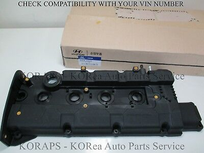 2241023510 Genuine Engine Valve Rocker Cover /& Gasket For Hyundai 01-02 Elantra