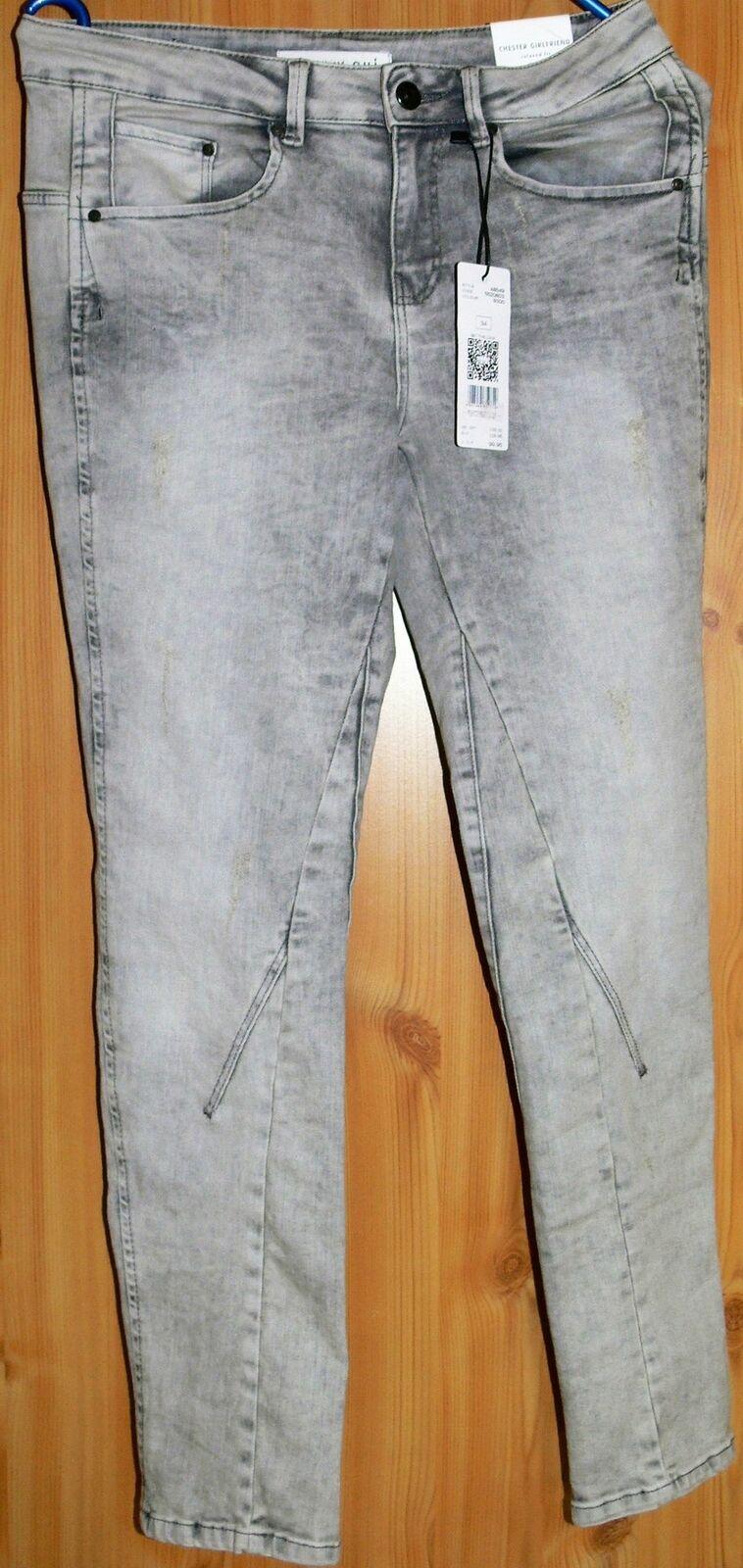 QUI Chester Girlfriend - Relaxed Fit  Jeans  hellgrey Größe  42 Neu  mit Etikett