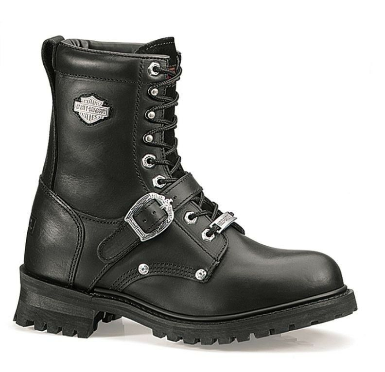 Harley-Davidson® Men's Faded Glory Motorcycle Black Leather Boots D91003