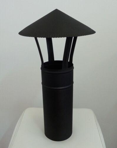 Schornsteinabdeckung 120mm Regenhaube Schornstein regenschutz Schwarz