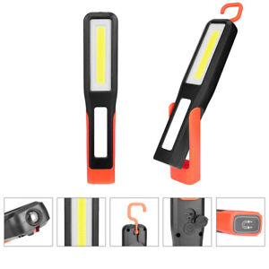 360° USB Rechargeable COB LED Work Light Torch Magnetic Camping Lamp W/hook