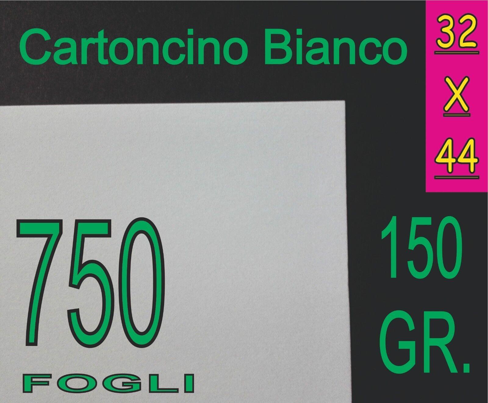 750 FOGLI CARTA CARTONCINO BIANCO OPACO STAMPANTI LASER 150G A3+ A3 PLUS 32X44CM