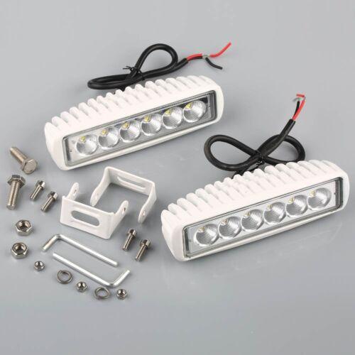Flood Lights 2pcs 12V White Spreader 6 Led Marine Lights for Boat
