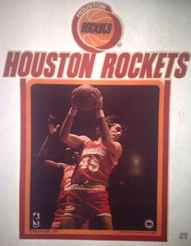 Original 1978 Houston Rockets Iron On Transfer Bas