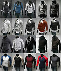 Mens Fitted Casual Hoodie Zip Up Jacket Coat Outwear Sweatshirt Jumper Tracksuit