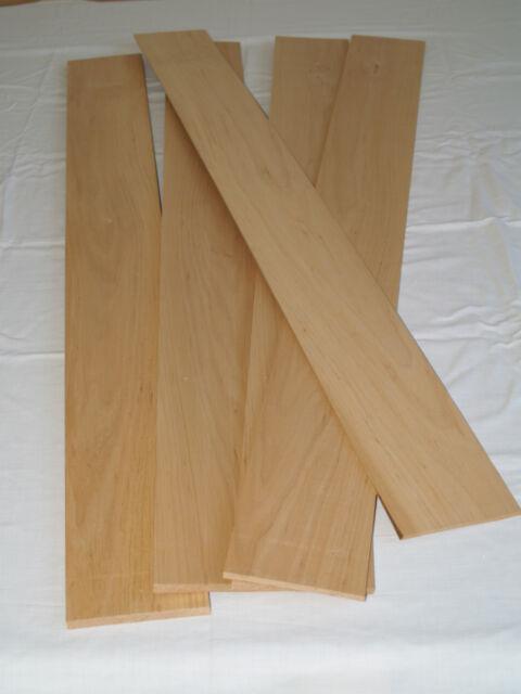 Erle  Massivholz Brettchen 100 x 900 mm Stärke variabel